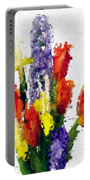 Portable Battery Charger - Abstract Flower 0801