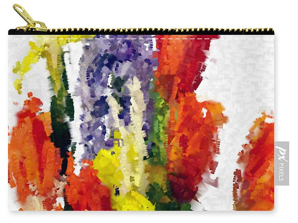 Carry-All Pouch - Abstract Flower 0801