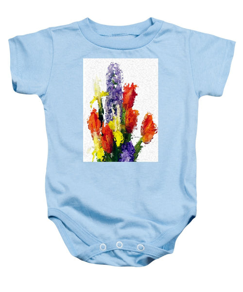 Baby Onesie - Abstract Flower 0801