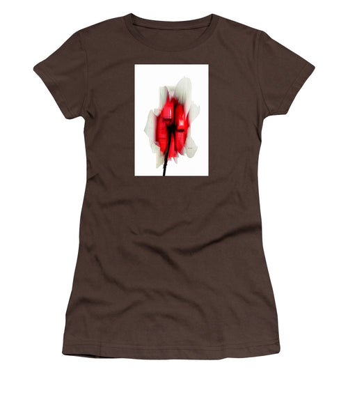 Women's T-Shirt (Junior Cut) - Abstract Flower