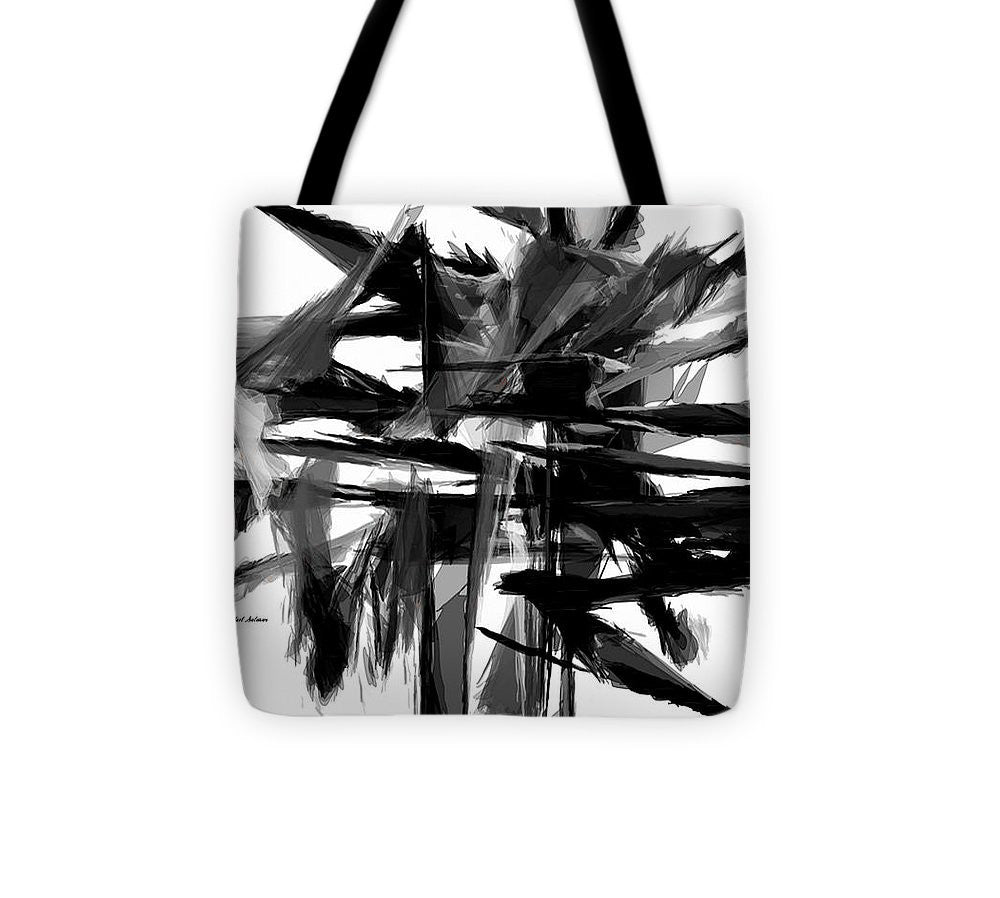 Tote Bag - Abstract In Black And White 0722