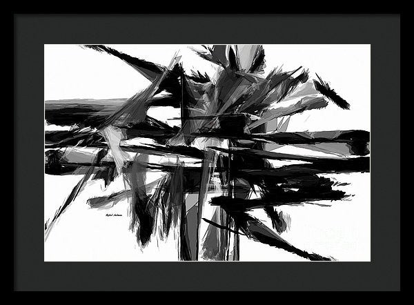 Framed Print - Abstract In Black And White 0722