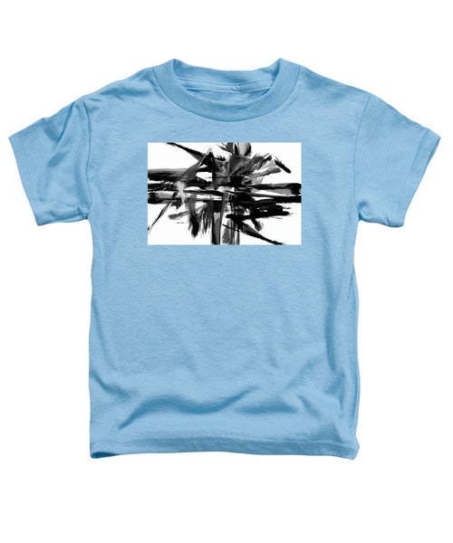 Toddler T-Shirt - Abstract In Black And White 0722