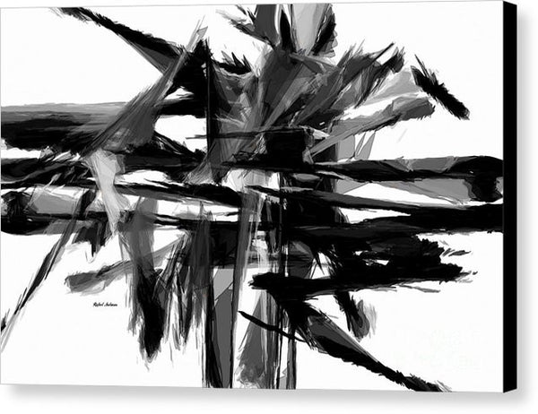 Canvas Print - Abstract In Black And White 0722
