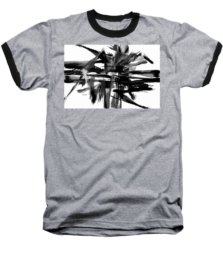 Baseball T-Shirt - Abstract In Black And White 0722