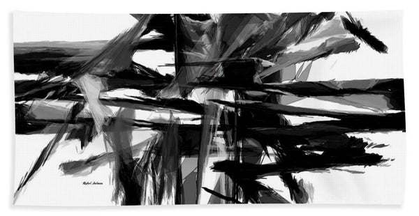 Towel - Abstract In Black And White 0722