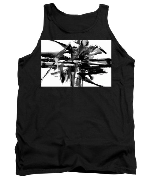 Tank Top - Abstract In Black And White 0722