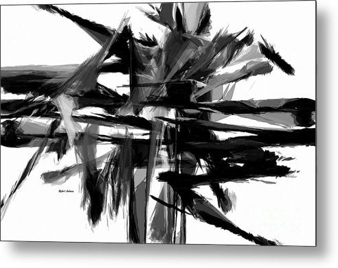 Metal Print - Abstract In Black And White 0722