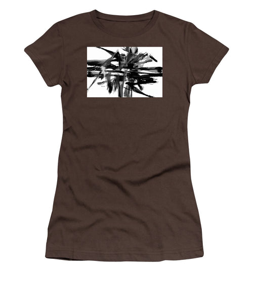 Women's T-Shirt (Junior Cut) - Abstract In Black And White 0722