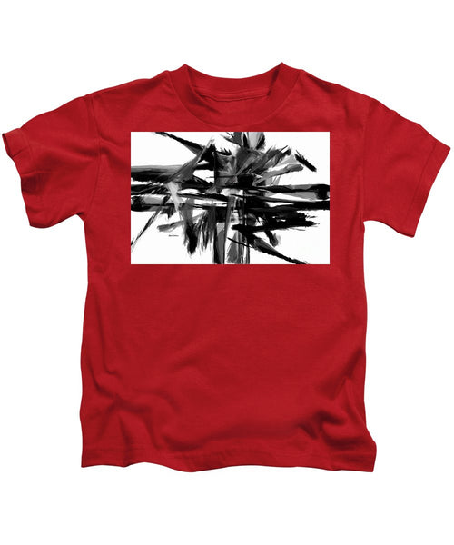 Kids T-Shirt - Abstract In Black And White 0722