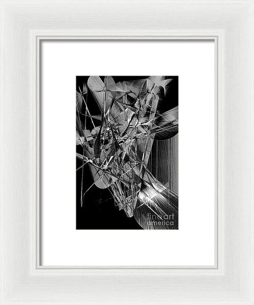 Framed Print - Abstract In Black And White 2