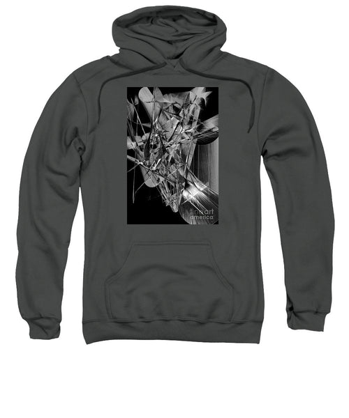 Sweatshirt - Abstract In Black And White 2