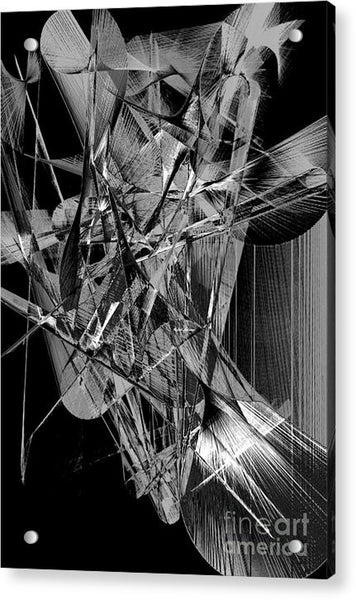 Acrylic Print - Abstract In Black And White 2