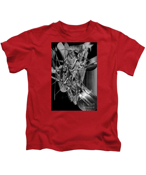 Kids T-Shirt - Abstract In Black And White 2