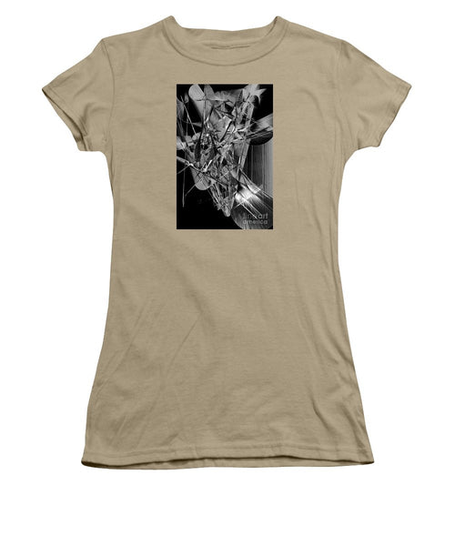 Women's T-Shirt (Junior Cut) - Abstract In Black And White 2