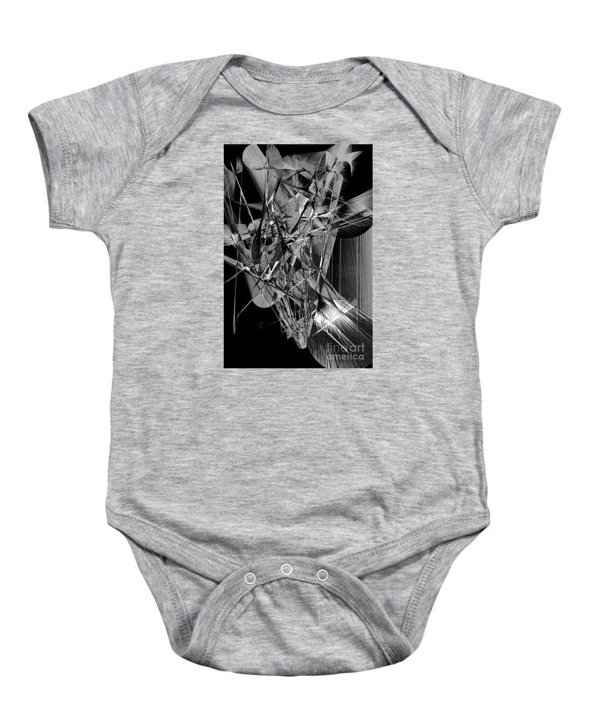 Baby Onesie - Abstract In Black And White 2