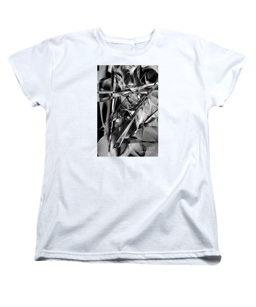 Women's T-Shirt (Standard Cut) - Abstract In Black And White