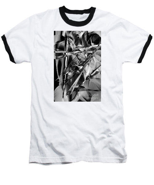 Baseball T-Shirt - Abstract In Black And White