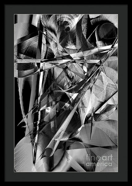 Framed Print - Abstract In Black And White