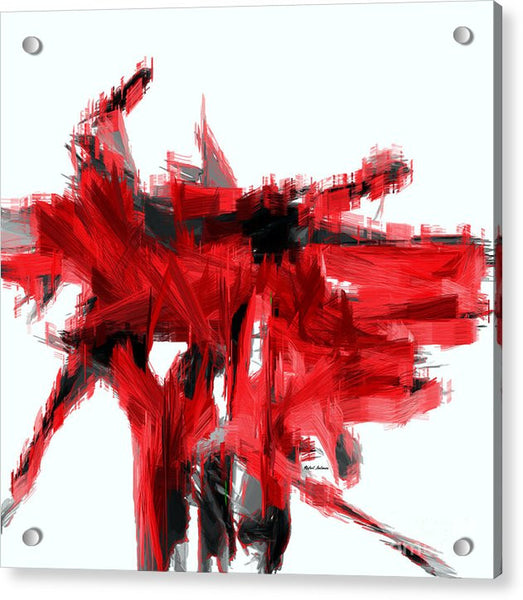 Acrylic Print - Abstract In Red
