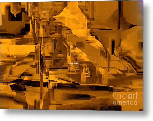 Metal Print - Abstract In Sepia