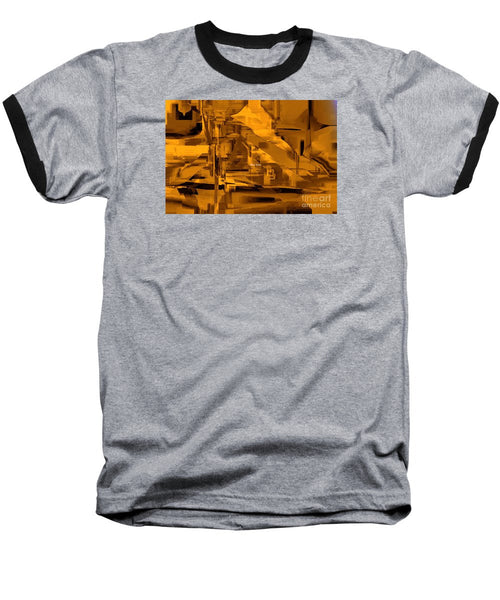 Baseball T-Shirt - Abstract In Sepia