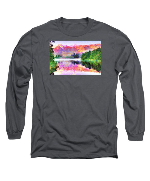 Long Sleeve T-Shirt - Abstract Landscape 0743