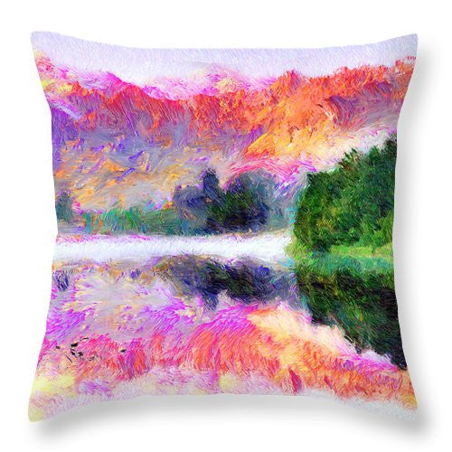 Throw Pillow - Abstract Landscape 0743