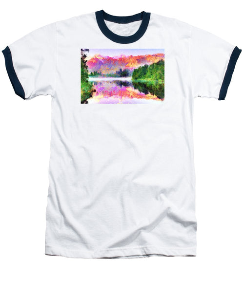 Baseball T-Shirt - Abstract Landscape 0743