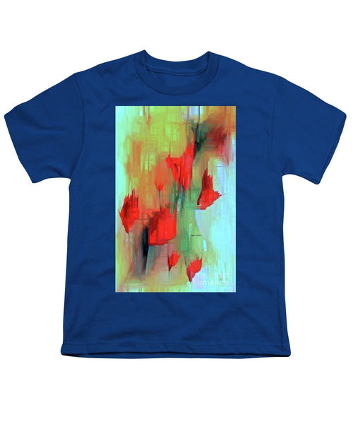 Youth T-Shirt - Abstract Red Flowers