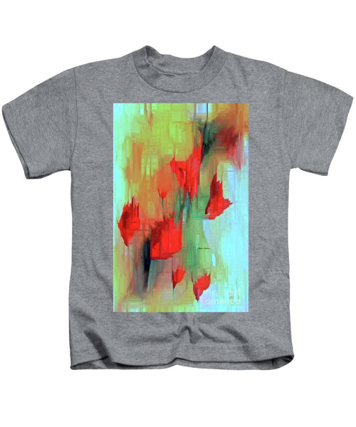 Kids T-Shirt - Abstract Red Flowers