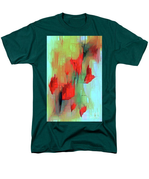 Men's T-Shirt  (Regular Fit) - Abstract Red Flowers