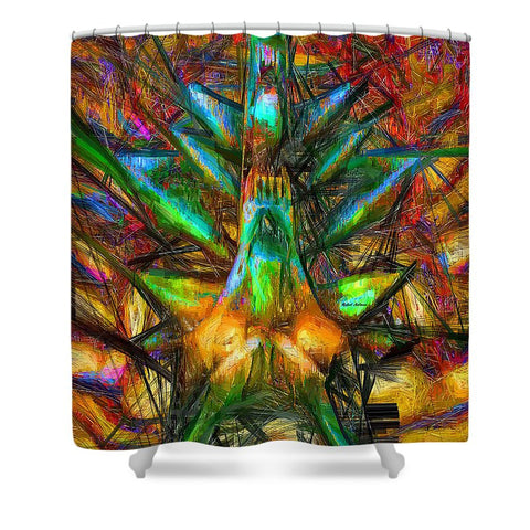 Shower Curtain - Abstract Sketch 1340