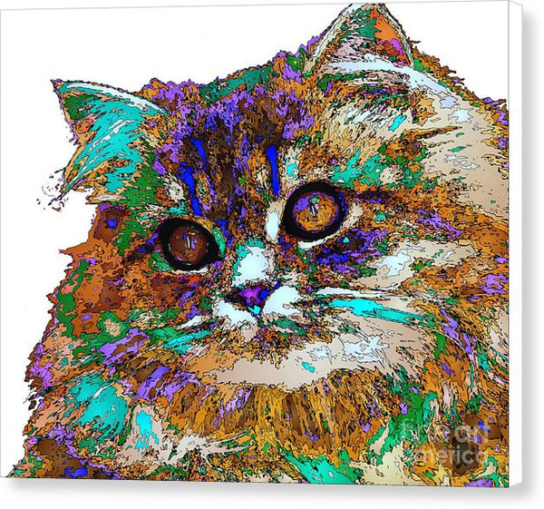 Canvas Print - Adele The Cat. Pet Series