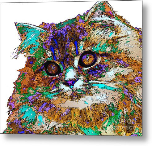 Metal Print - Adele The Cat. Pet Series