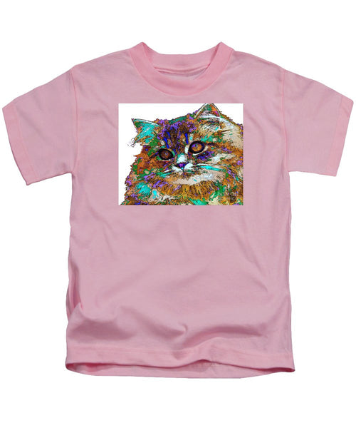 Kids T-Shirt - Adele The Cat. Pet Series