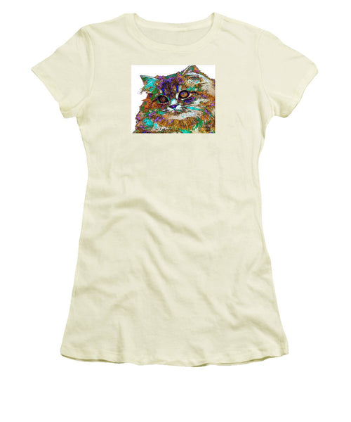 Women's T-Shirt (Junior Cut) - Adele The Cat. Pet Series