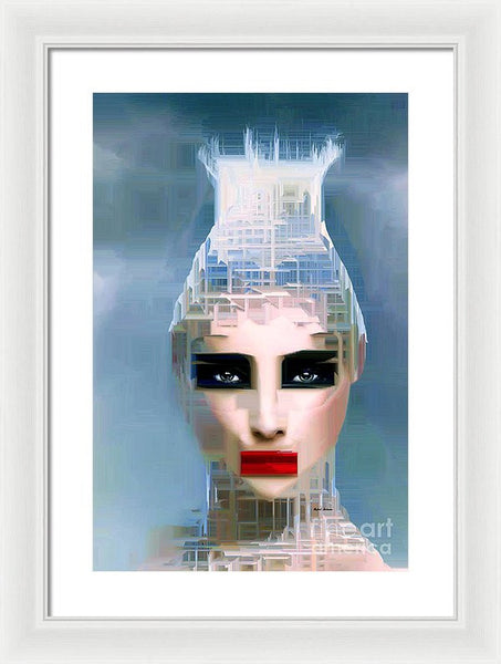 Framed Print - Air Head