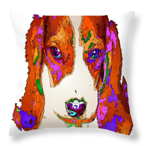 Throw Pillow - Am I Cute Or What. Pet Series