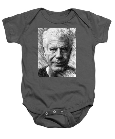 Anthony Bourdain - Ink Drawing - Baby Onesie
