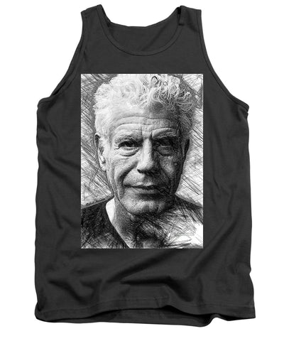 Anthony Bourdain - Ink Drawing - Tank Top