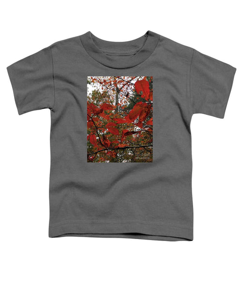 Toddler T-Shirt - Autumn Leaves In Red