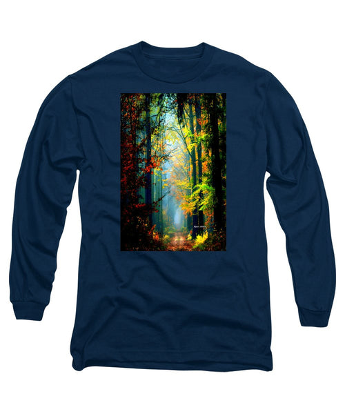 Long Sleeve T-Shirt - Autumn Trails In Georgia