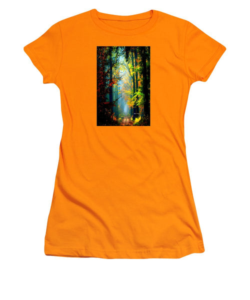 Women's T-Shirt (Junior Cut) - Autumn Trails In Georgia