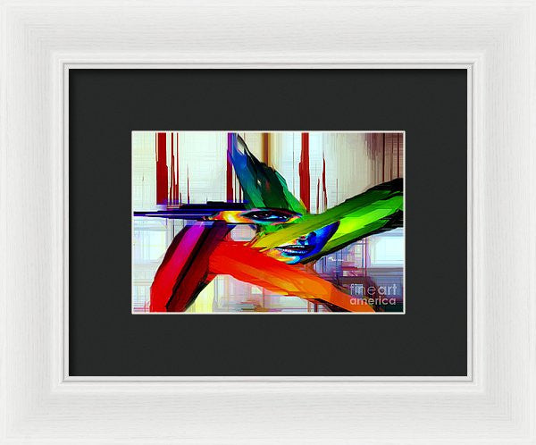 Framed Print - Behind The Glass