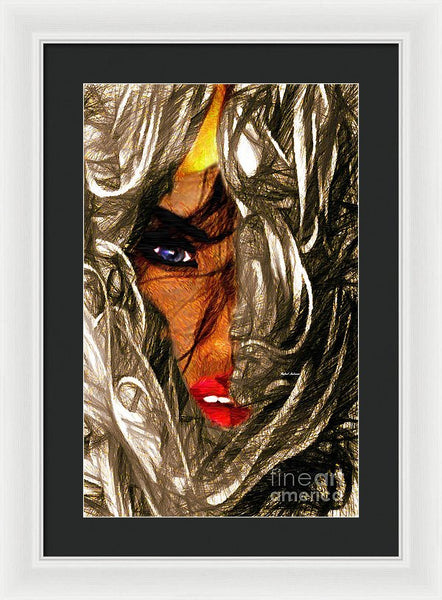 Framed Print - Behind The Veil