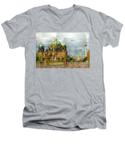 Men's V-Neck T-Shirt - Berlin Cathedral