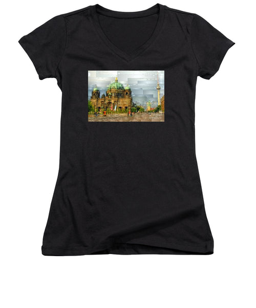 Women's V-Neck T-Shirt (Junior Cut) - Berlin Cathedral