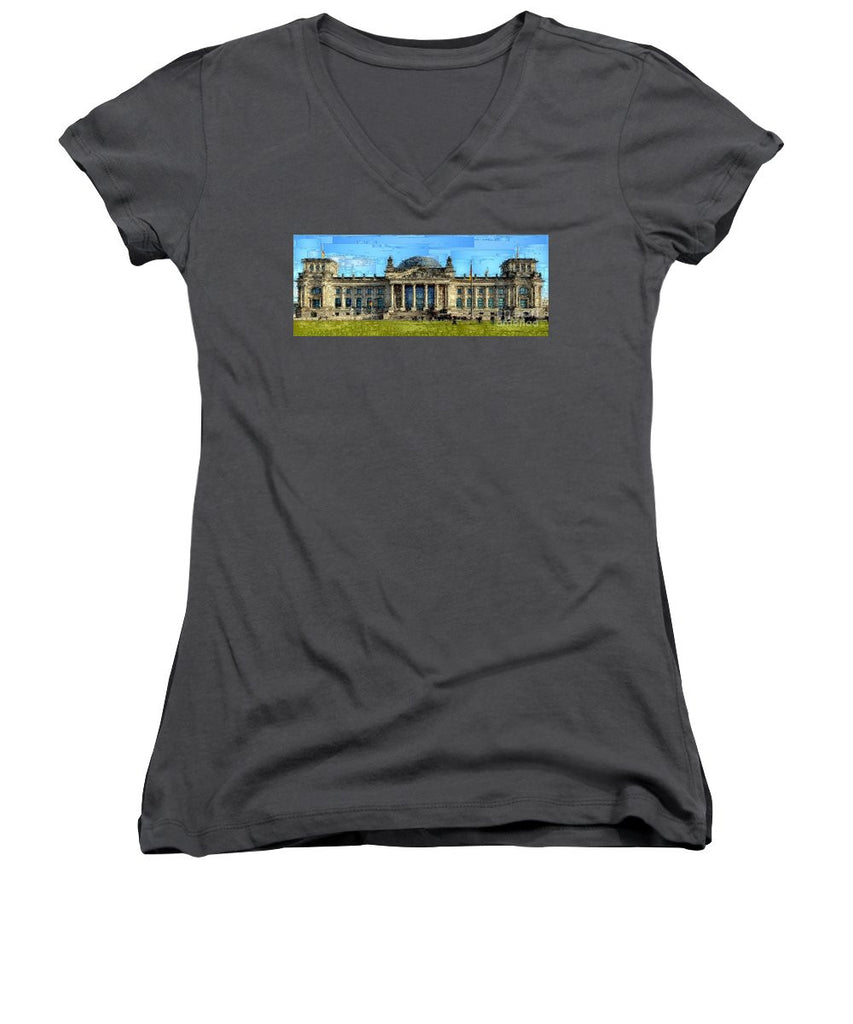 Women's V-Neck T-Shirt (Junior Cut) - Berlin Parliament Reichstag Building