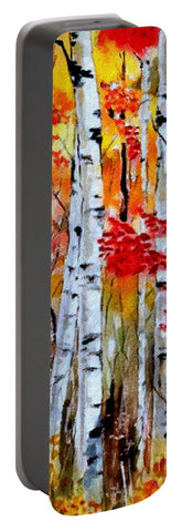 Birch Trees In Fall - Portable Battery Charger